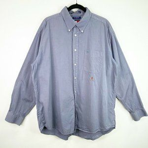 Tommy Hilfiger 80's 2 Ply Button Front Up Shirt XL